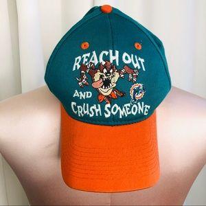 Vintage Looney Tunes Miami Dolphins Hat 1997